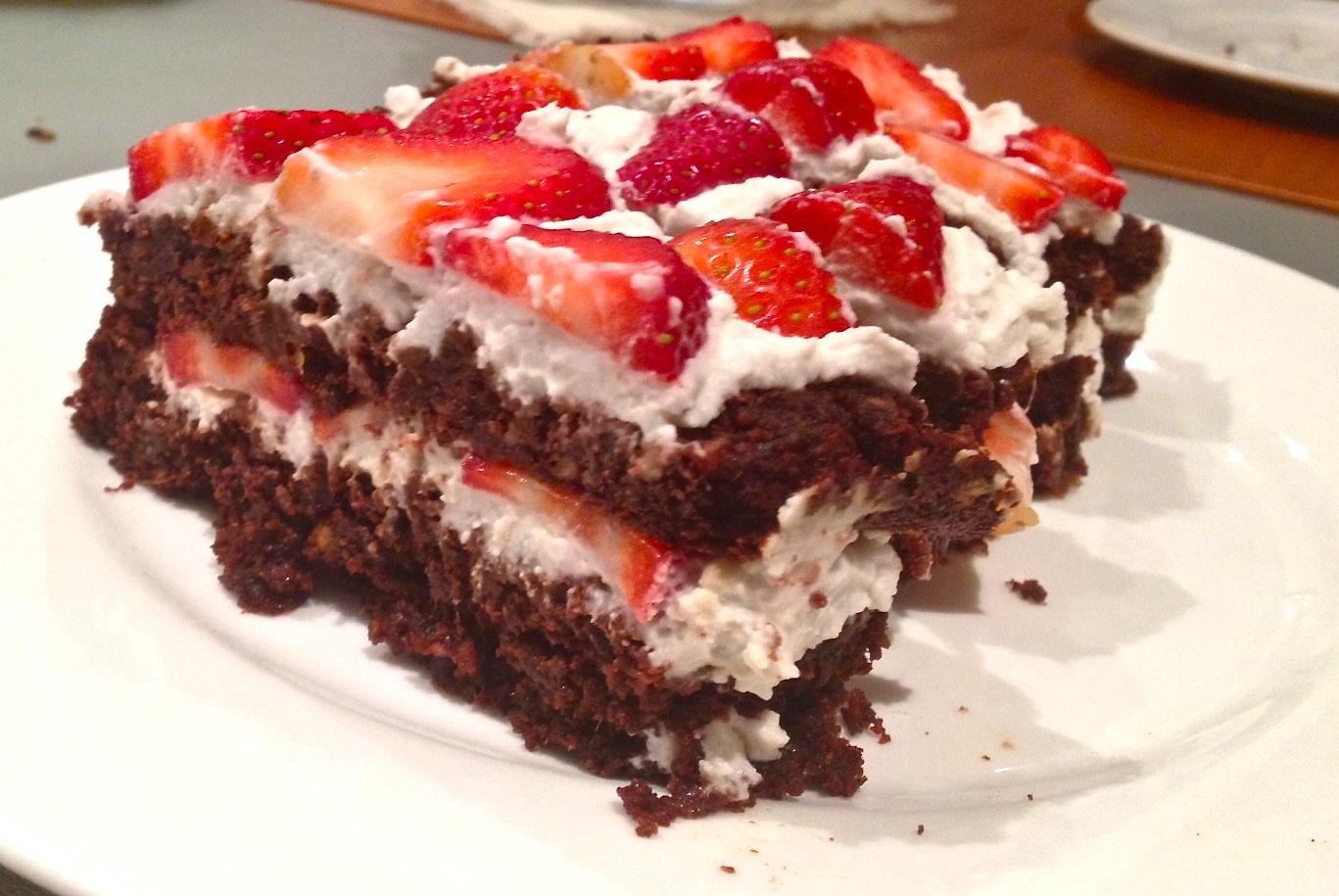 Layered chocolate cake 3