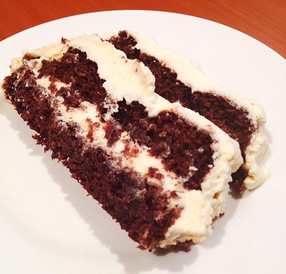Chocolate Cake With Coconut Ripple