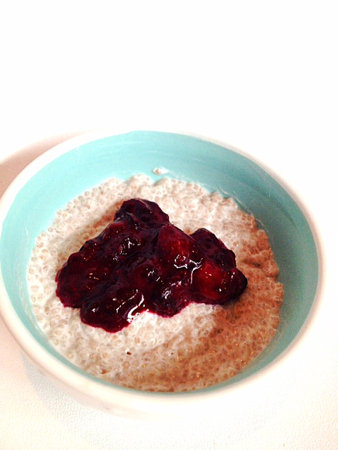 Vanilla Chia Pudding with Blueberry Compote